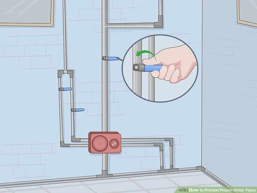 Should you run hot or cold water to keep pipes from freezing