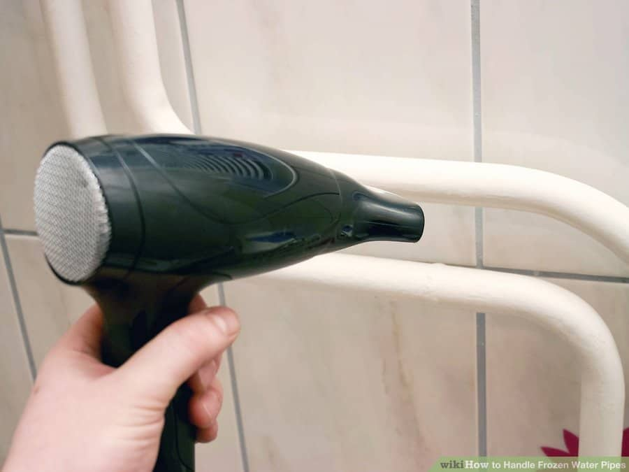 how to thaw frozen pipes inside a wall