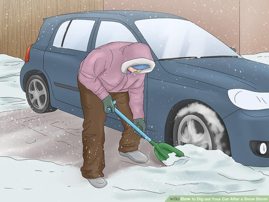 best way to dig your car out of snow