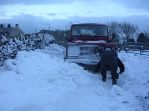 how to get car out of snow and ice