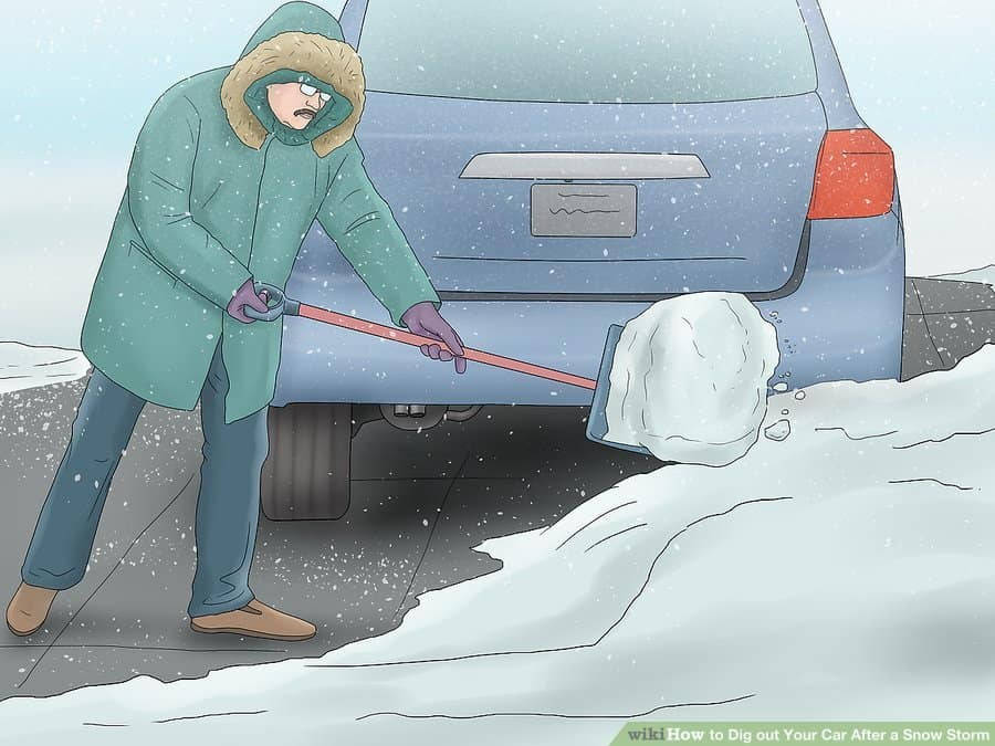 how to pull a vehicle out of snow