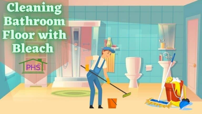 how to clean bathroom floor with bleach